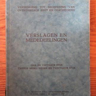 Verslagen en mededeelingen. 1937