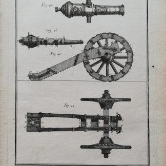 M. de Felice - Encyclopédie ou Dictionnaire Universel Raisonné des Connoissances Humaines - Art Militaire, Artillerie